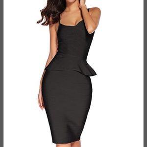 5f0f00b21d1 Dresses   Skirts - Black Two piece midi bodycon bandage dress